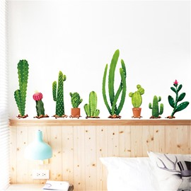 Cactus Self-adhesive Waterproof Plant Wall Stickers for Kids PVC Wall Decoration