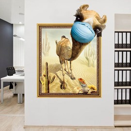 Camel 3 D Cartoon Creative Wall Stickers Wall Decorations for Bedroom