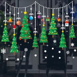 Christmas Trees Window Clings PVC Stickers Window Wall Stickers Party Stickers Decal Ornaments