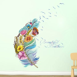 Feather Modern Cartoon Wall Stickers Wall Decorations