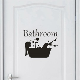 Environmental and Waterproof Cartoon Wall Stickers  Wall Decorations Music Notes Bathroom