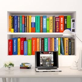 Environmental and Waterproof Door Decals for Books Decorations PVC 3D Door Mural Plane Wall Sticker