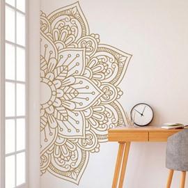 Mandala Wall Decal Gold Mandala Decal Boho Mandala Wall Decor PVC Plain