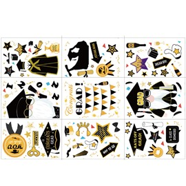 Waterproof No Glue Graduation Stickers Reusable Glass Window Clings Decorations for Home School