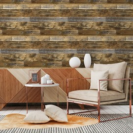 Brown Wood Grain Wall Stickers Wood Effect Self Adhesive Sticky Back Film 19.6ft X 1.4ft