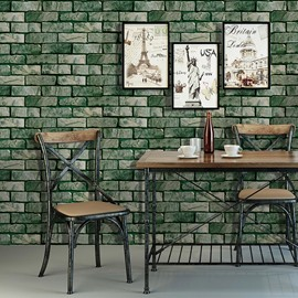 3D Brick Stone Wall Murals Paper Self Adhesive Wallpaper Roll Peel Stick 19.6FT