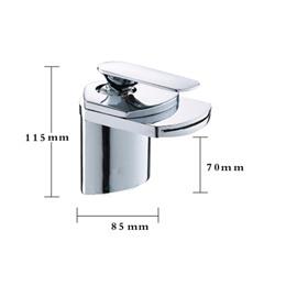 Single Handle Copper Waterfall Sink Faucet
