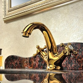 New Arrival Hot Selling European Style Gold Bathroom Sink Faucet