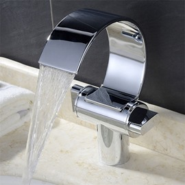 Deck Mount Waterfall Basin Mixer One Hole One Handle
