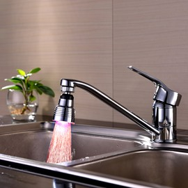 New Arrival Contemporary ABS LED Multi-color Whorl Kitchen Faucet Spout