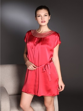 High Quality Graceful and Beautiful Skincare Silk Sleepwear