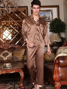 Gorgeous Khaki Checks Pattern Loungewear for Men