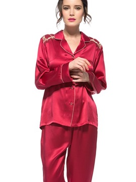 Wonderful Classic Top Quality Lace Closure Silk Pajamas