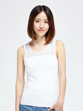 Icy Cotton Slim Fight Lace Vest Women's T-Shirt Fashion Home Dress