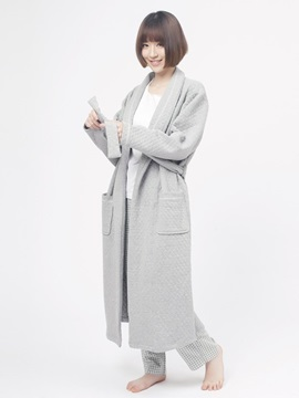 Combed Cotton Warm Women's Home Robe Comfortable Home Dress