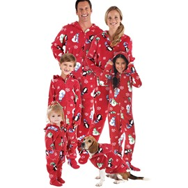Elegant and Creative Iceman with Snowflake Pattern Polyester Family Christmas Pajamas