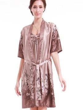 Comfortable Texture Lace Cardigan Beautiful Large Sleepshirt