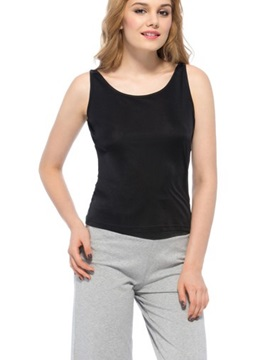 Top Quality Wonderful Greaceful Black Silk Camisole