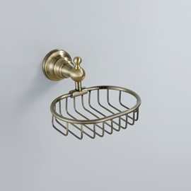Antique Brass Wall-mounted Soap Basket