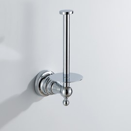 Chrome Finish Bathroom Accessories Brass Toile Paper Rack