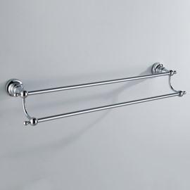 Chrome Finish Bathroom Accessories Brass Doudle Towel Rod