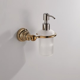 Ti-PVD Finish  Simple Round Style Antique Brass Soap Dispenser