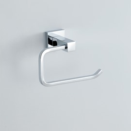 Contemporary Chrome finish Toilet Paper Rack