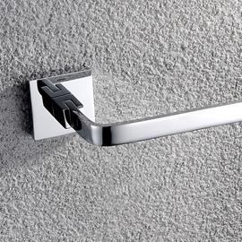 Modern Chrome Finish Solid Brass Slat 24-Inch Towel Bar
