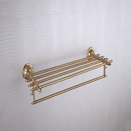 Antique Ti-PVD Finish Solid Brass Towel Bar