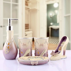 High Quality European Style High Heeled Pattern Bathroom Accessories