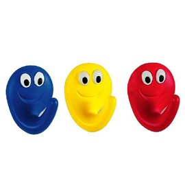 New Arrival Cute Cartoon Smile Face Two Pieces Bathroom Hook