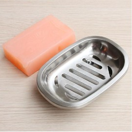 New Style Fashion Concise Leaking Design Stainless Steel Soap Box