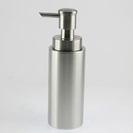 New Arrival Unique Concise Cylinder Stainless Steel Lotion Bottle