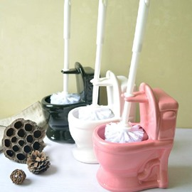 Creative Adorable Ceramic Concise Toilet Brush Holder