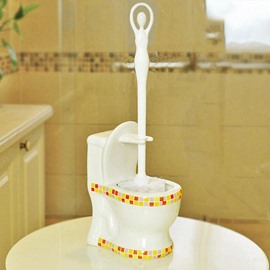 Creative Adorable Mosaic Pattern Ceramic Toilet Brush Holder