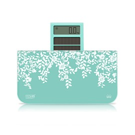 Graceful Leaves Pattern Mini Tempered Glass Weight Scale