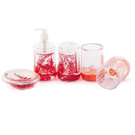 Amazing Plant Fruit Acrylic 5-piece Bathroom Accessories
