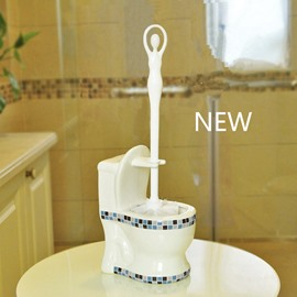 Toilet Modelling Ceramics Mosaic Toilet Brush Set