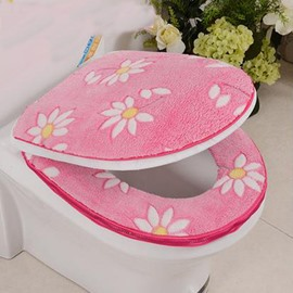 Thicken Warmth Sunflower 2-Piece Set Toilet Seat Covers