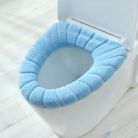 Toilet Cushion Acrylic Waterproof Bottom Plush Thicken Toilet Seat Covers