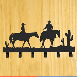 Creative West Cowboy Image Steel Coat Hook