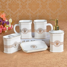 Classical Noble European Style 5 Pieces Bathroom Ensembles