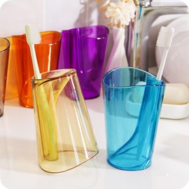 Creative Colored PS Toothbrush Holder & Tooth Mug
