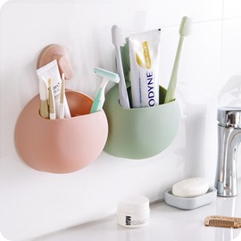 Delicieux 73 Concise Solid ABS Suction Toothbrush Holder