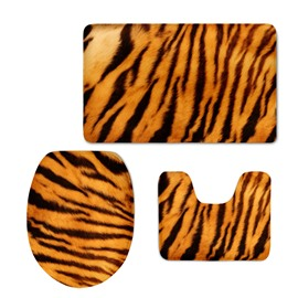 Tiger Stripes 3D Printed 3-Pieces Toilet Seat Cover