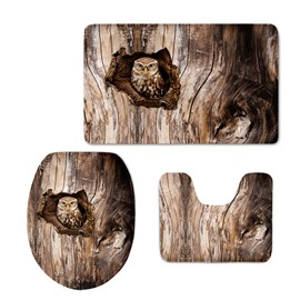 Owl in the Hole of the Tree 3D Printed 3-Pieces Toilet Seat Cover