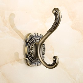 European Style Retro Zinc Alloy Wall Mounted Bathroom Hook