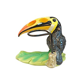Big Parrot Shape Resin Cute Style Toothbrush Holder