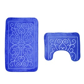 3D European Pattern Embossed 2-PieceToilet Mat