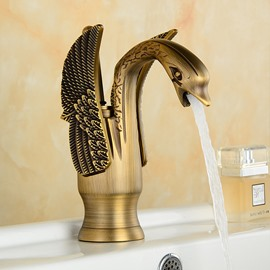 European Style High-grade Copper Swan Bathroom Kitchen Basin Faucet